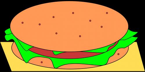 hamburger junk food fastfood