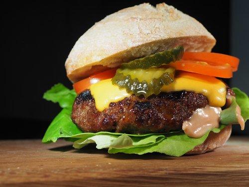 hamburger  dinner  food