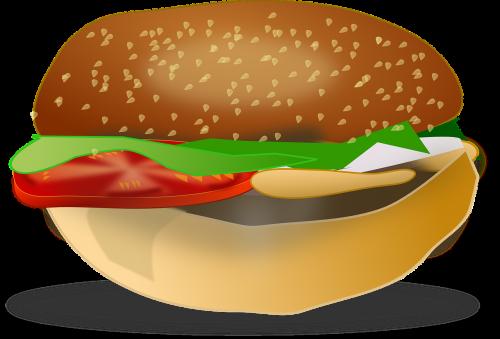 hamburger burger fastfood