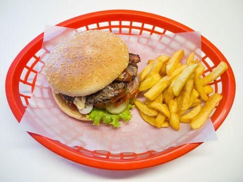 hamburger burger french