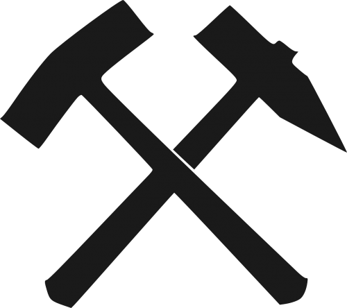 hammer iron chisel