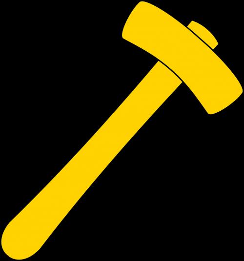 hammer tool yellow