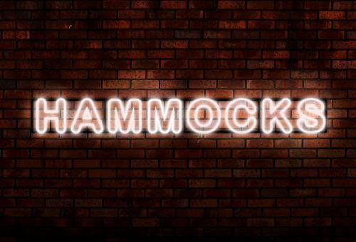 hammocks neon lights word
