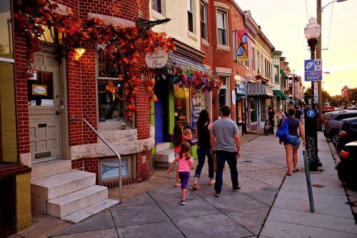 Hampden,baltimore,šeima,miesto,gatvė