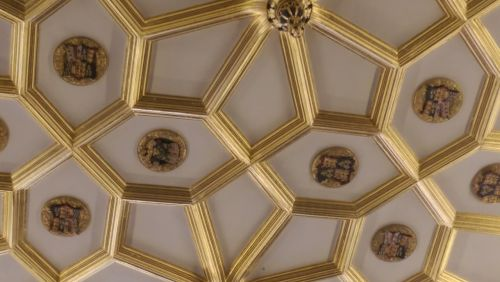 hampton court palace ornate ceiling ceiling