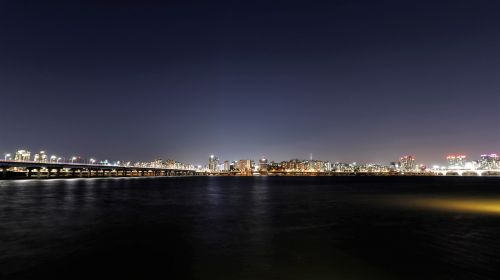 han river night view for