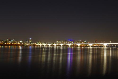 han river night view night photography