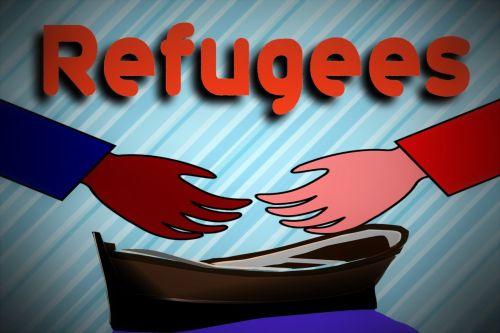 hand boot refugee