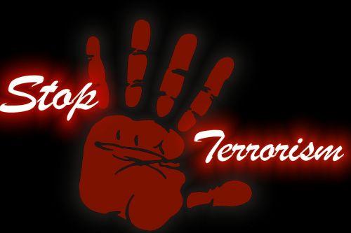 hand bloody terror
