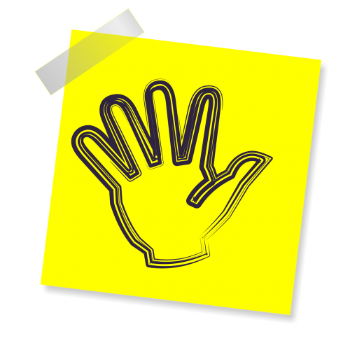 hand palm sign