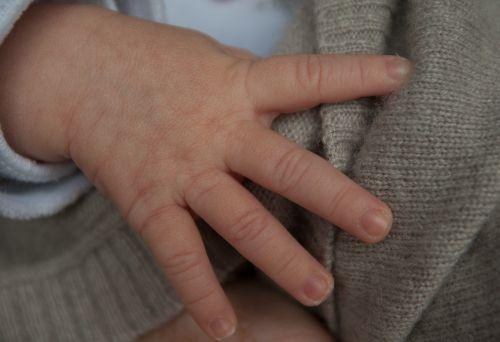 hand baby child