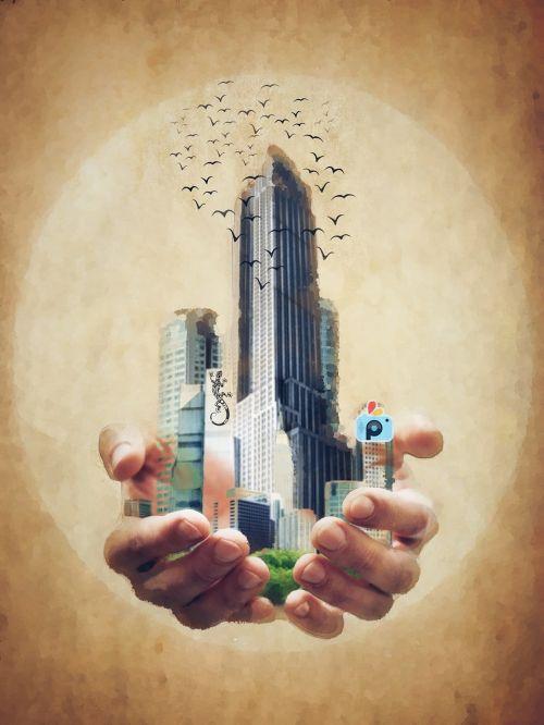 hand hold city