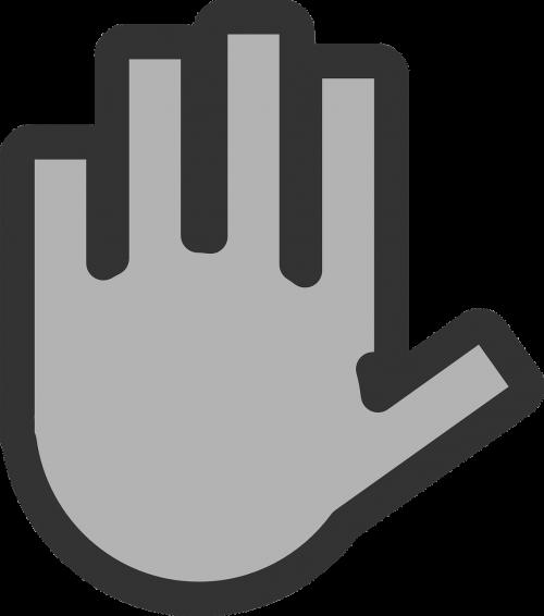 hand fingers stop