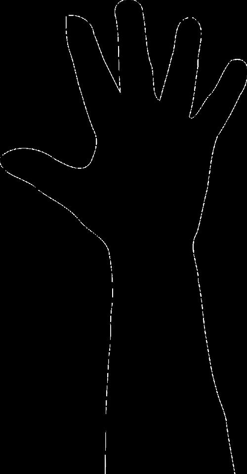 hand silhouette finger