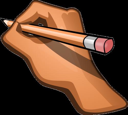 hand pencil pen