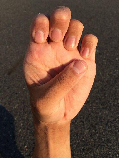 hand nail wrist