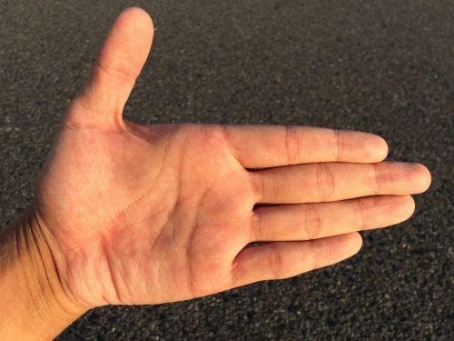 hand finger skin