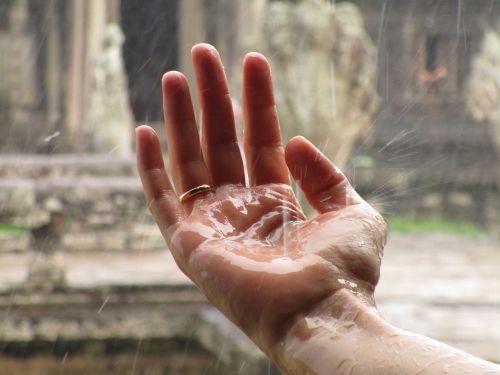 hand rain zen
