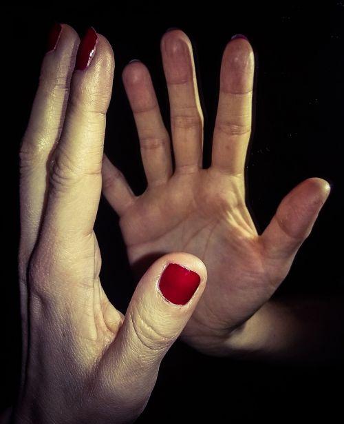 hand hands mirror