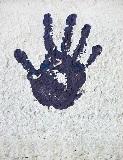 hand reprint handprint