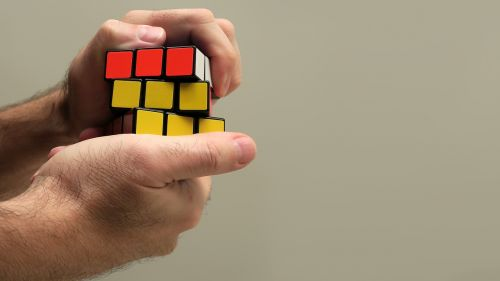 hand rubik cube