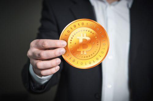 hand man bitcoin