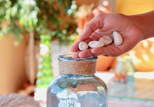 hand sassi glass jars