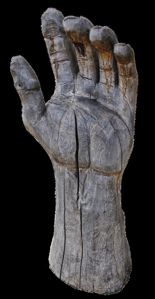 hand finger wood hand