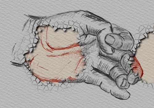 hand finger drawing