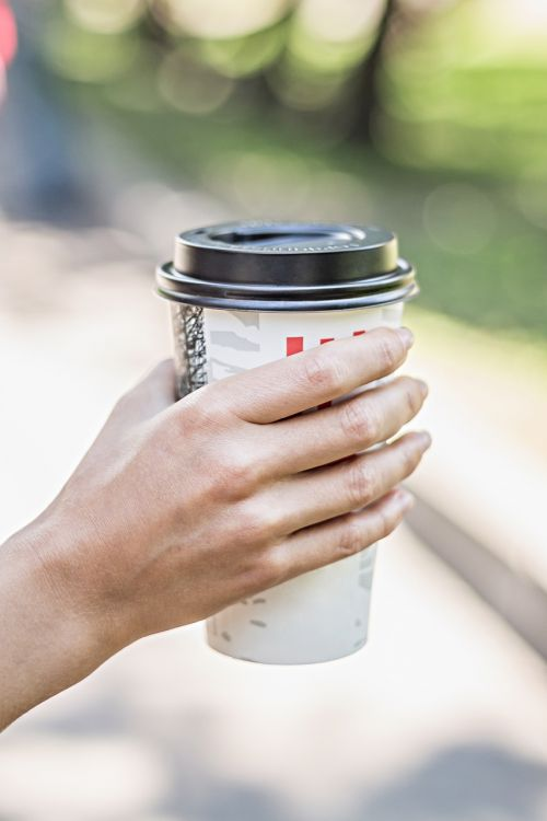 hand coffee hands
