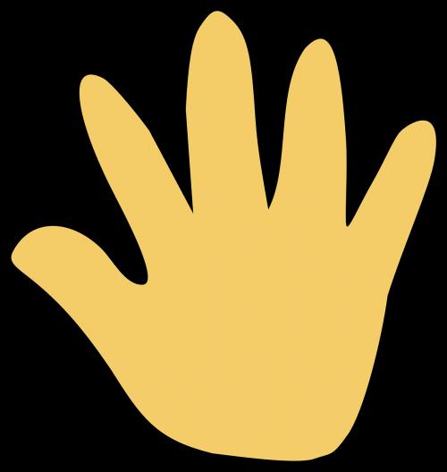 hand open cartoon