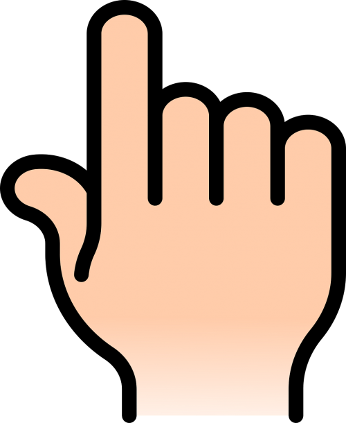 hand right point