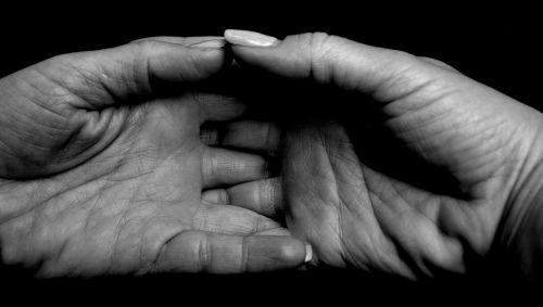 hand palm grief