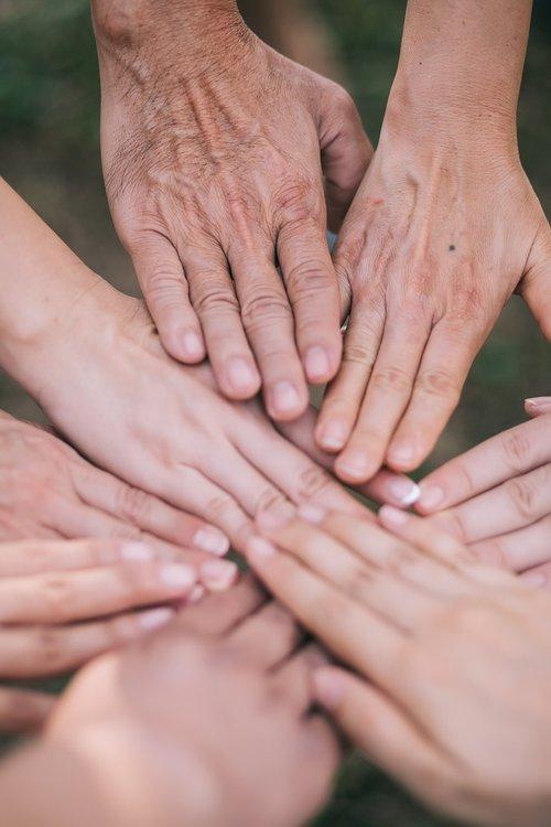 hand  together  teamwork