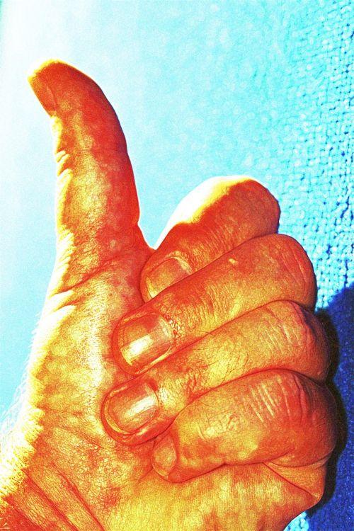 hand thumb thumbs up