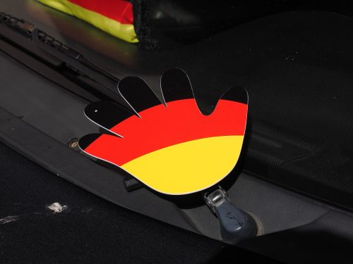 hand germany colors flag