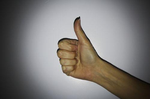 hand finger one
