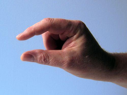 hand finger thumb