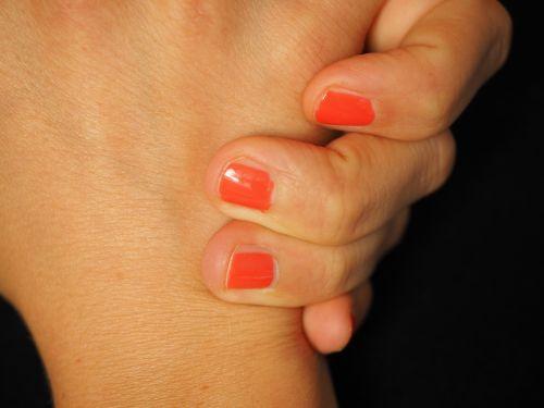 hand finger fingernails