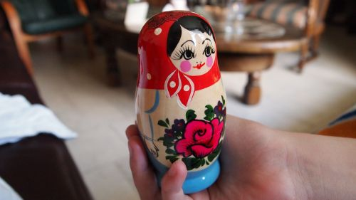 hand matryoshka wood