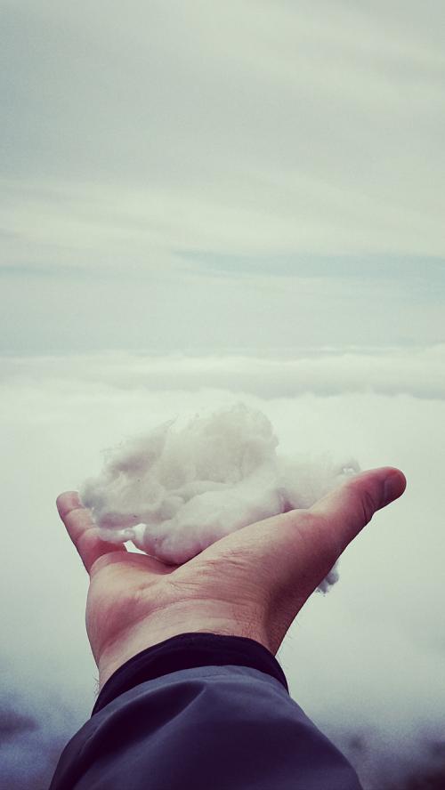 hand holding cotton