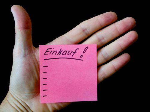 hand note list