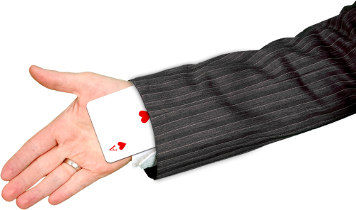hand playing card ace