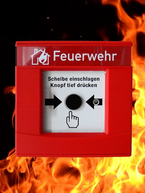 hand detector fire detector push button