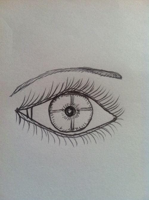 hand drawn eye eyebrow
