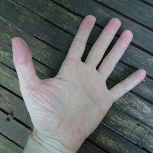 Hand On A Deck