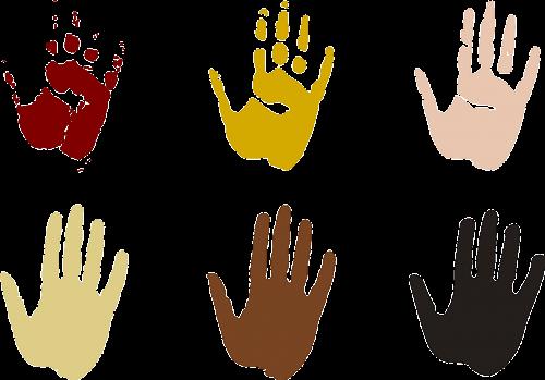 hand prints hands earthy