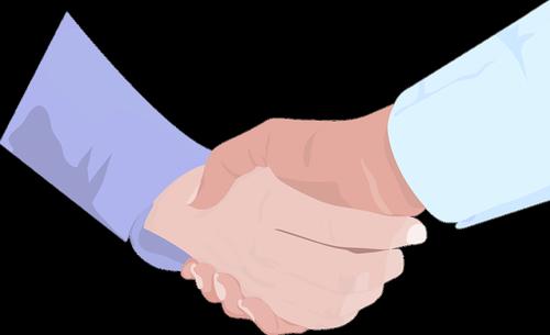 hand shake  hand  business