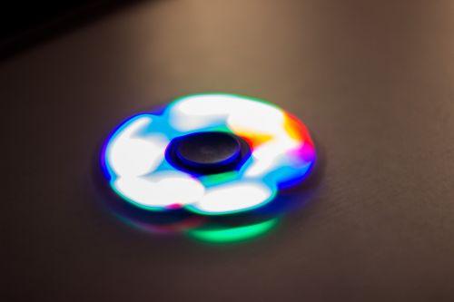 hand spinner led light