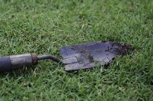 hand trowel garden tool soil